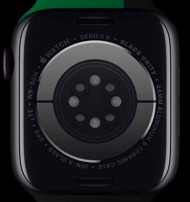 Black Unity Apple Watch 후면 크리스탈