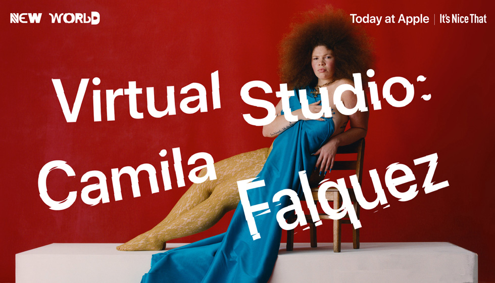 Title screen for the Camila Falquez virtual session for Today at Apple.