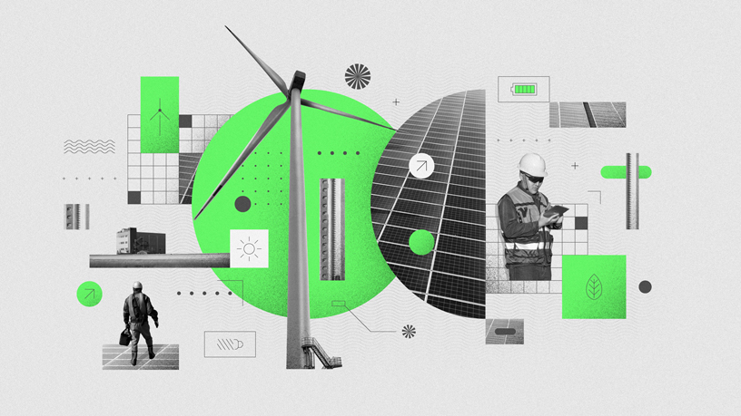 Un exemple d'initiative de production d'énergie propre.