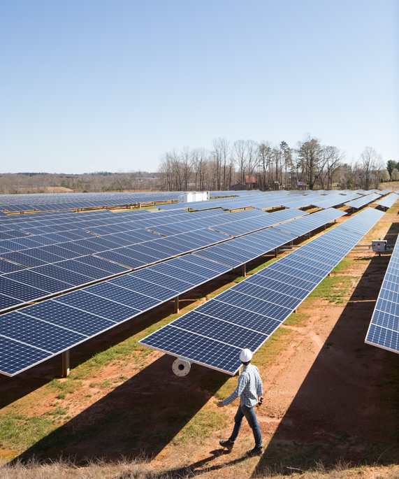 Apple and its suppliers have invested in solar energy.