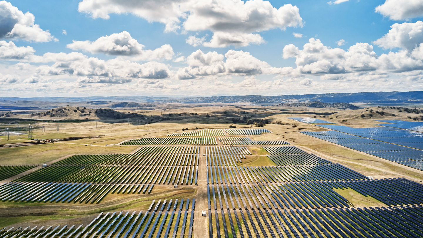 The new California Flats solar energy storage farm.