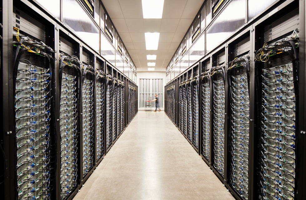 Server room at Apple's Reno data center.