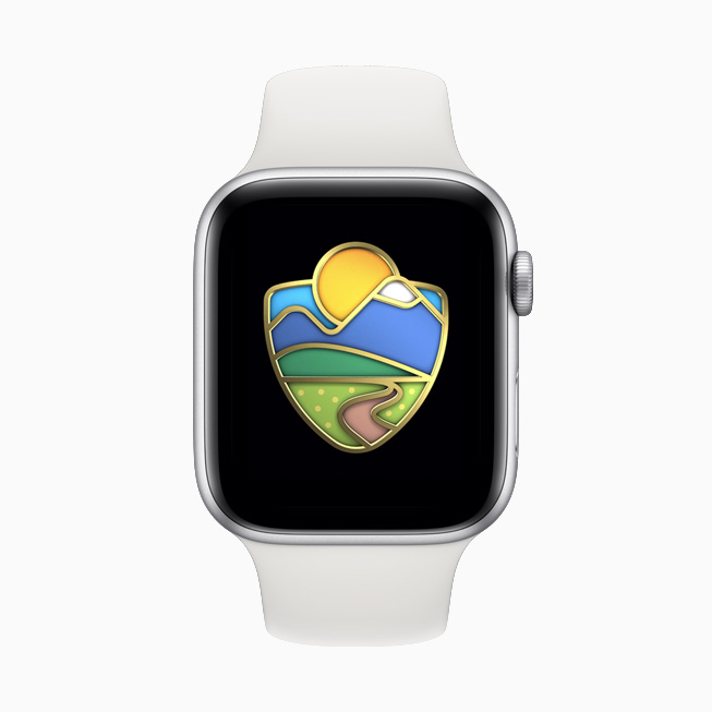 The Activity Challenge displayed on Apple Watch Series 5.