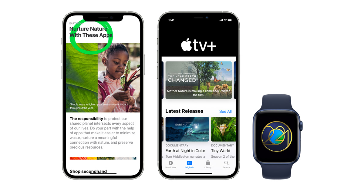 Apple feiert den Tag der Erde 2021