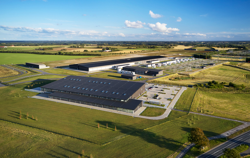 Veduta aerea del data center di Viborg.
