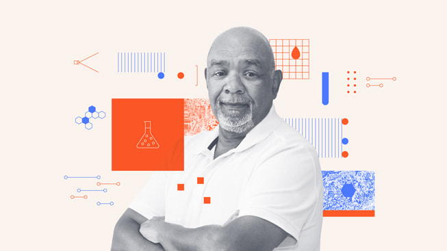 An illustrated portrait of Karl Johnson, president and chief financial officer of Diversified Chemical Technologies, Inc.