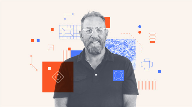 An illustrated portrait of Gregg Ontiveros, CEO of Group O.