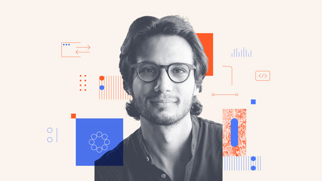An illustrated portrait of David Klein, one of the co-founders of Inspectorio.