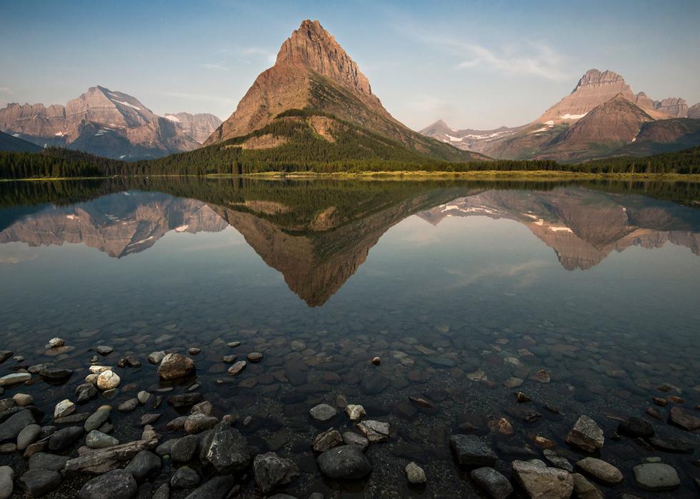 Landscape of Glacier National Park.