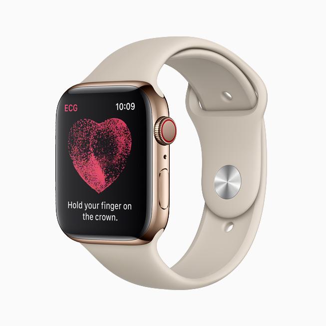 The ECG app displaying Sinus Rhythm on iPhone and Apple Watch.