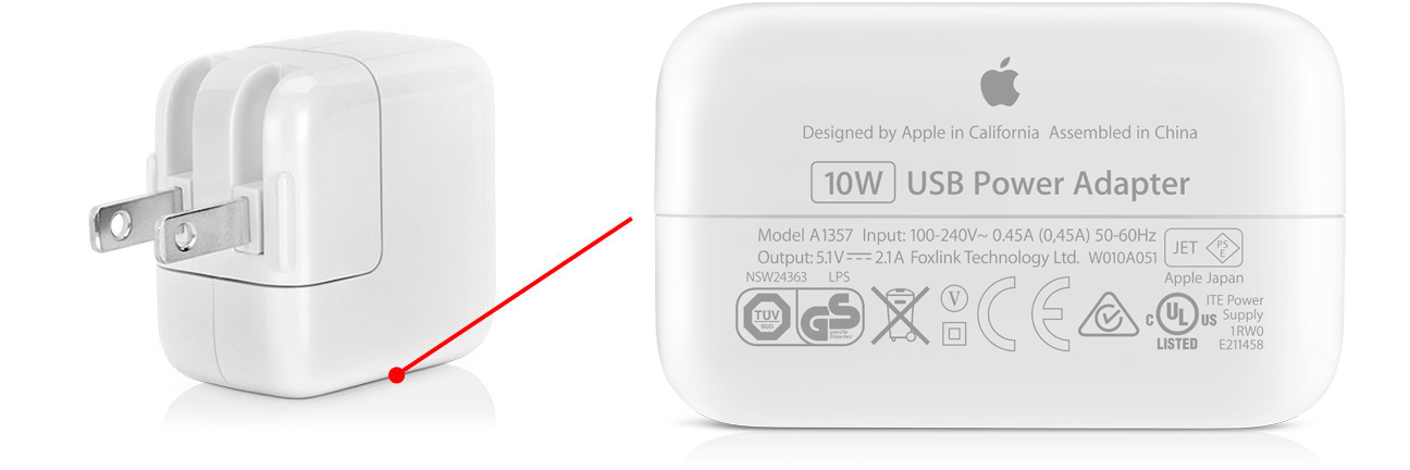 ipad charger 5w or 10w