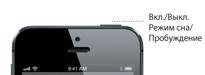 Кнопка «Режим сна/Пробуждение» устройства iPhone5
