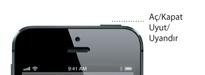 iPhone 5 uyku/uyanma düğmesi ayrıntısı