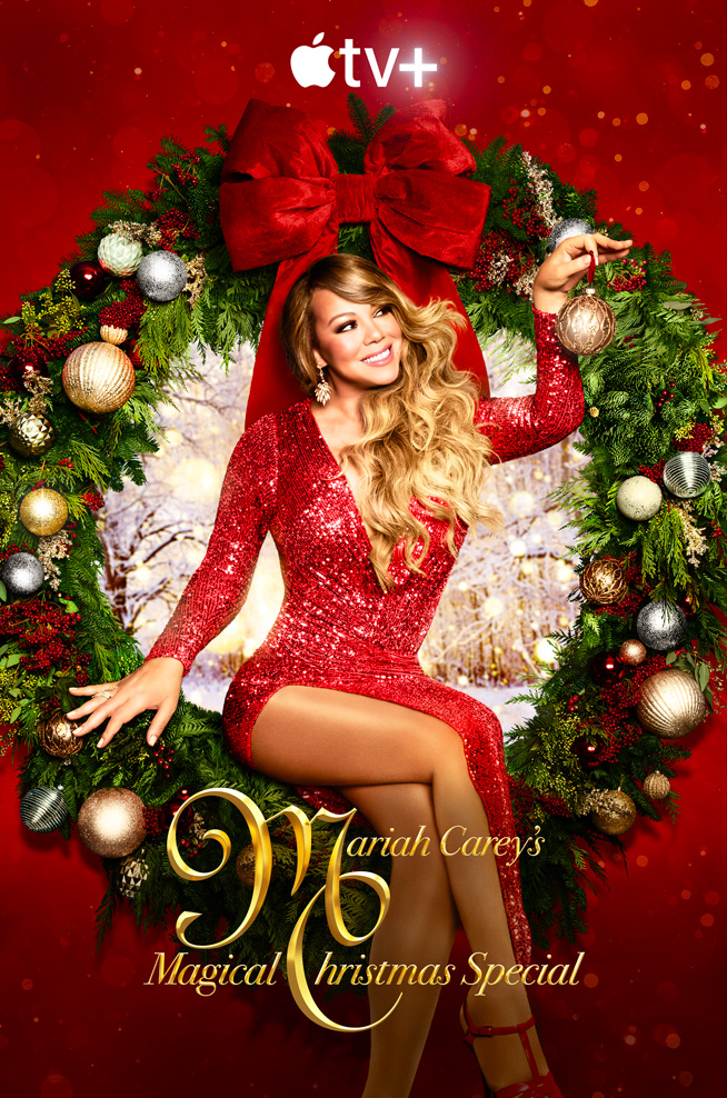 """Mariah Carey's Magical Christmas Special"" key art"