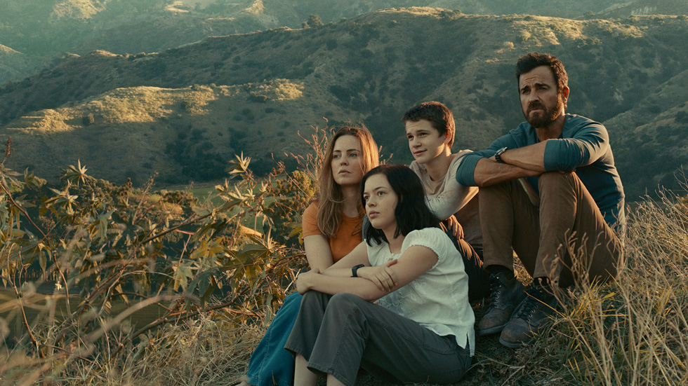 "Justin Theroux, Melissa George, Logan Polish and Gabriel Bateman in ""The Mosquito Coast"""