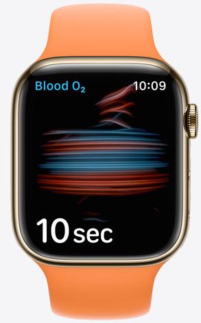Apple Watch showing Blood Oxygen
