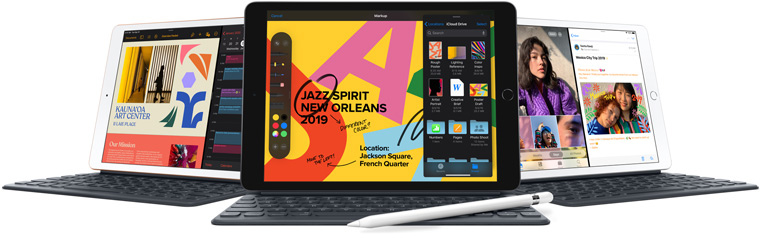 The new iPad A larger 10.2-inch Retina display, full-size Smart Keyboard support, and the new iPadOS.