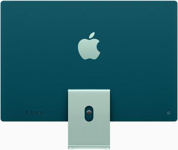 綠色 iMac 的背面圖