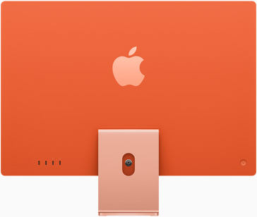 Vue de dos de l'iMac orange