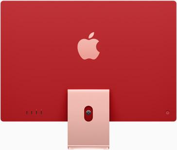粉紅色 iMac 的背面圖