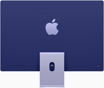 紫色 iMac 的背面圖
