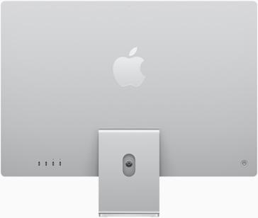 銀色 iMac 的背面圖