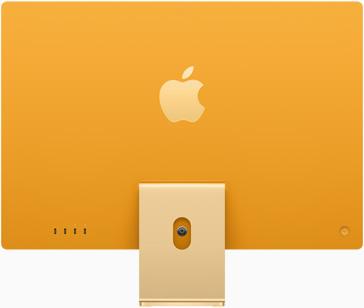 黃色 iMac 的背面圖