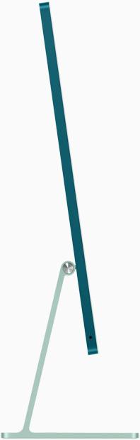 صورة جانبية لجهاز iMac باللون الأخضر