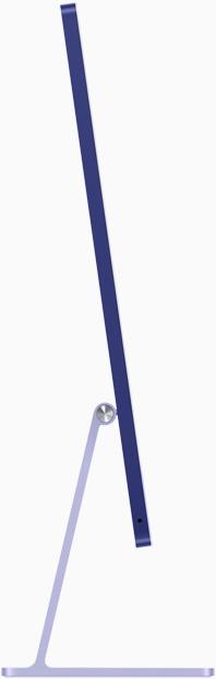 صورة جانبية لجهاز iMac باللون الليلكي