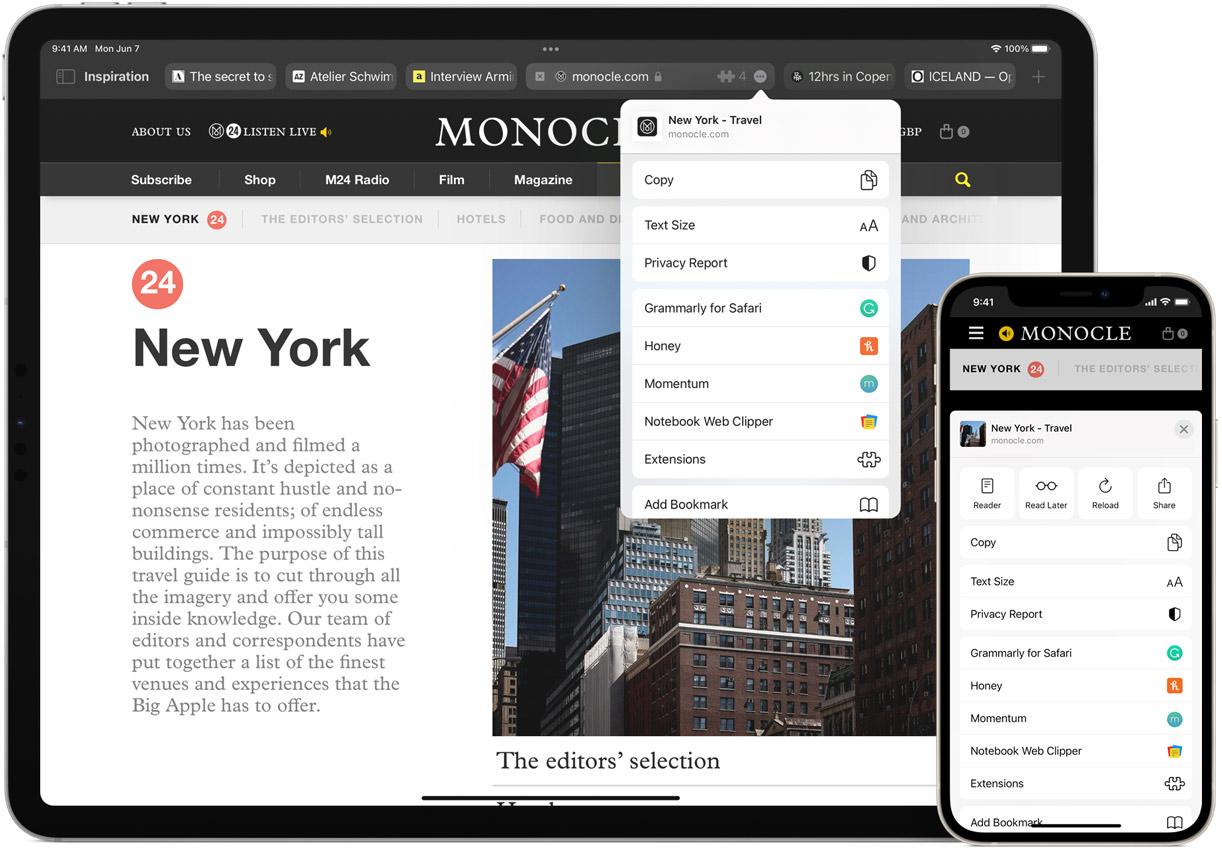 Cài đặt tiện ích mở rộng Safari trên iPhone