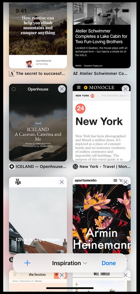 Tab group trên iOS 15