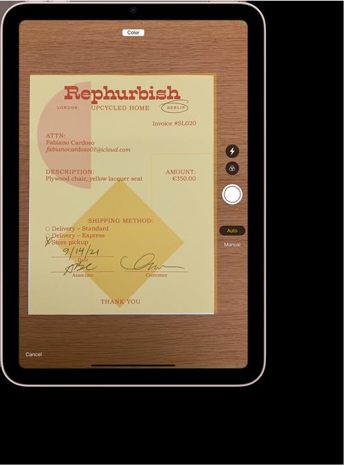 Notes app on iPad mini