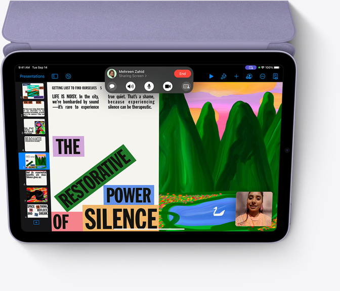 Keynote on iPad mini