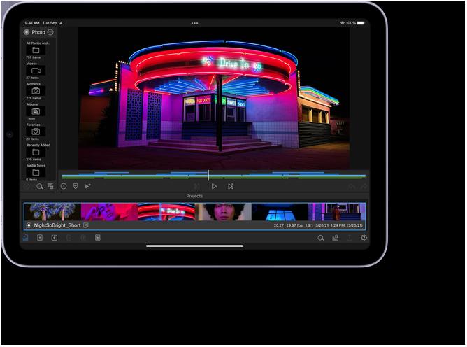 LumaFusion app on iPad mini
