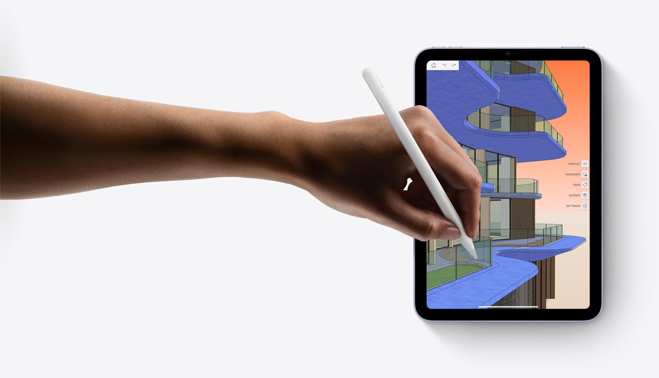Using Apple Pencil on SketchUp app on iPad mini
