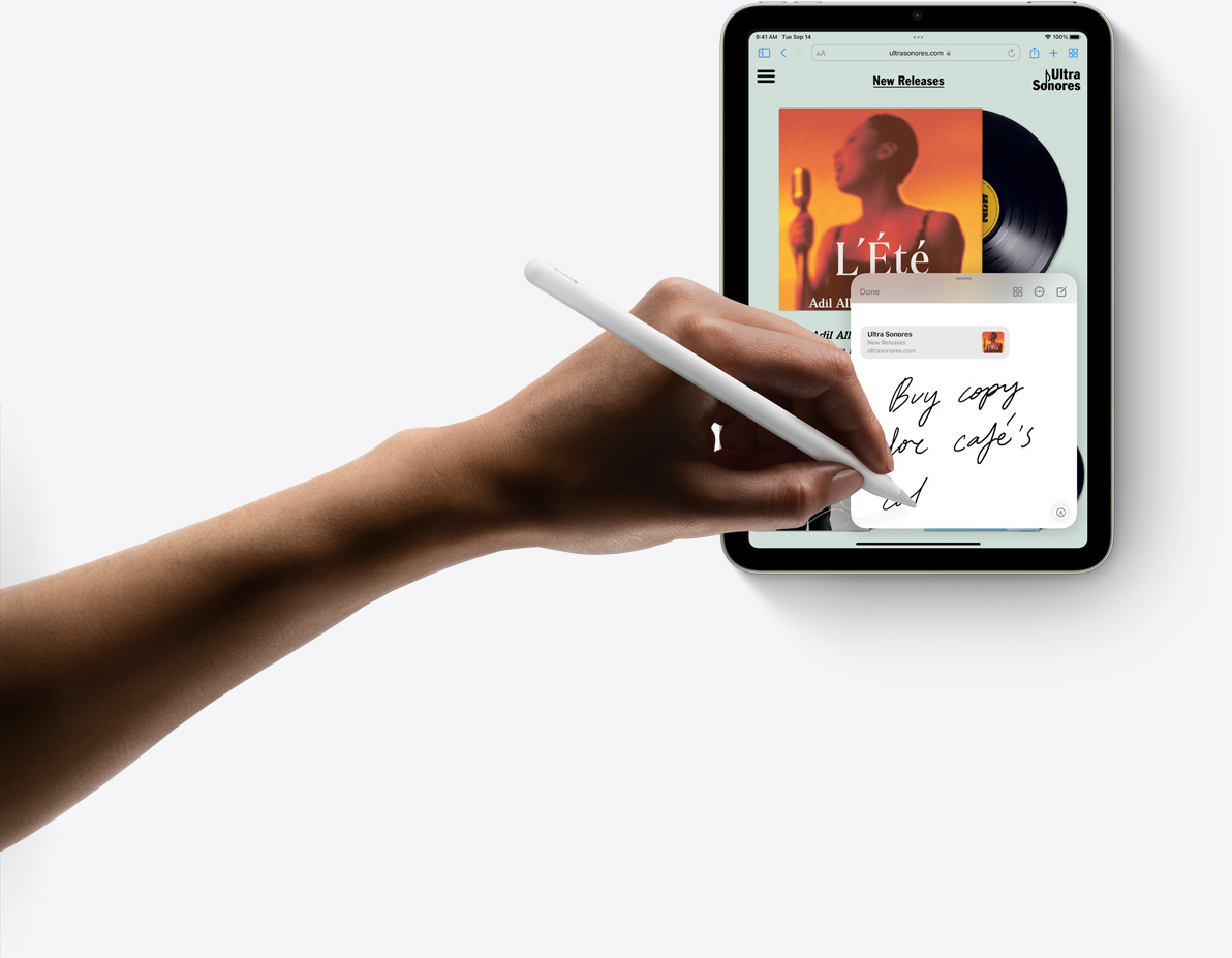 Using Apple Pencil in a Quick Note