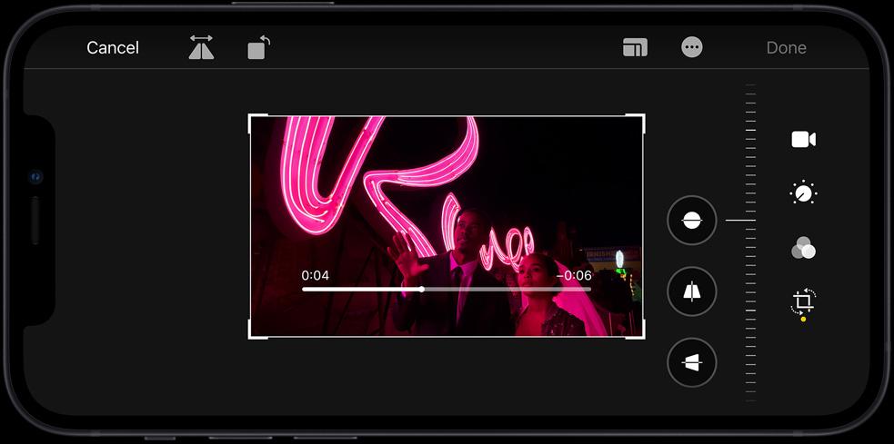 iPhone 12 上剪辑视频或是修改照片