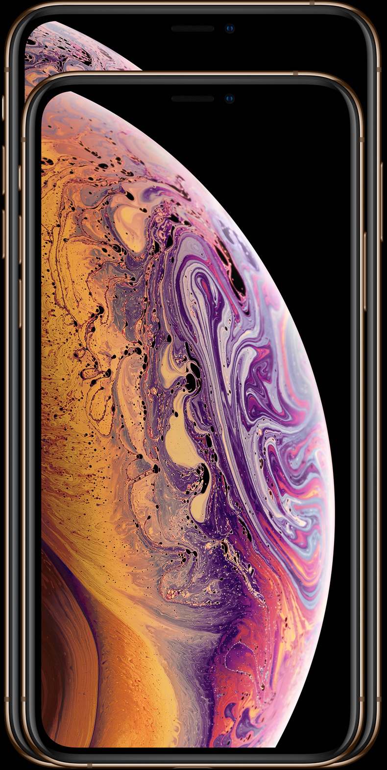 Новые iPhone Xs имеют специально разработанные OLED-дисплеи, которые славятся непревзойденным качеством HDR,             и глубоким черным цветом в индустрии смартфонов. Кроме того, модель iPhone Xs Max имеет наибольший дисплей             установленный на iPhone за всю историю.